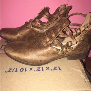 Brown booties! Size 11!!